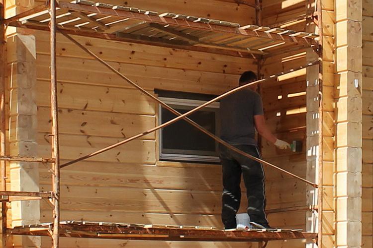 защита пористой древесины